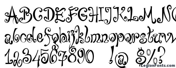 глифы шрифта Bajareczka, символы шрифта Bajareczka, символьная карта шрифта Bajareczka, предварительный просмотр шрифта Bajareczka, алфавит шрифта Bajareczka, шрифт Bajareczka