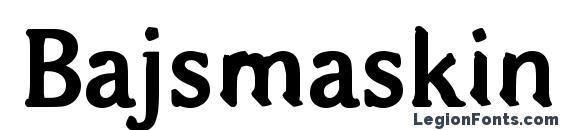 Bajsmaskin tjock sprutande Font
