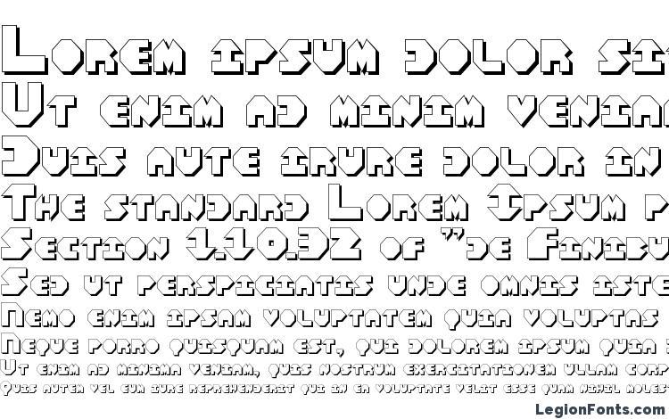 specimens Bal Astaral 3D font, sample Bal Astaral 3D font, an example of writing Bal Astaral 3D font, review Bal Astaral 3D font, preview Bal Astaral 3D font, Bal Astaral 3D font