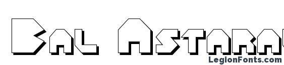 Bal Astaral 3D font, free Bal Astaral 3D font, preview Bal Astaral 3D font