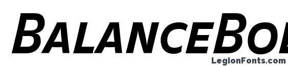 BalanceBold CapsItalic Font
