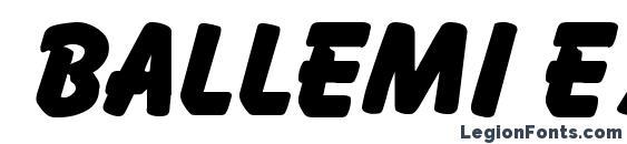 Ballemi Extra Bold font, free Ballemi Extra Bold font, preview Ballemi Extra Bold font