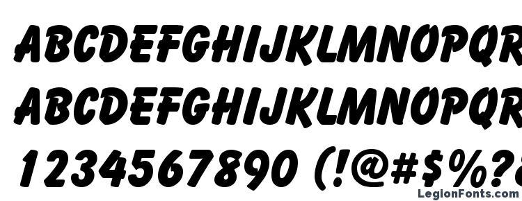 глифы шрифта Balloon, символы шрифта Balloon, символьная карта шрифта Balloon, предварительный просмотр шрифта Balloon, алфавит шрифта Balloon, шрифт Balloon