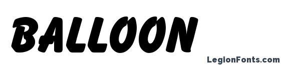 шрифт Balloon, бесплатный шрифт Balloon, предварительный просмотр шрифта Balloon