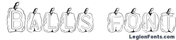 Шрифт Balls font
