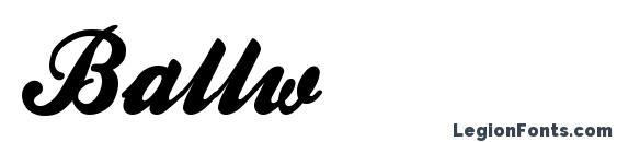 Ballw Font