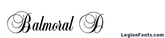 Balmoral D font, free Balmoral D font, preview Balmoral D font