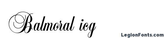 Шрифт Balmoral icg