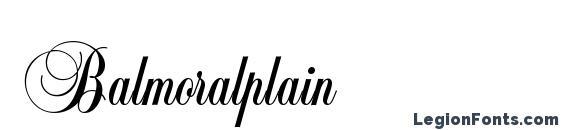 Balmoralplain Font, Wedding Fonts