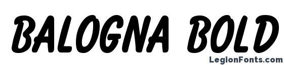 Balogna Bold Font