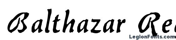 Balthazar Regular Font