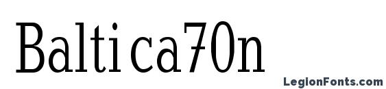 Baltica70n Font