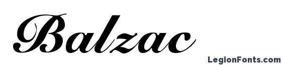 Шрифт Balzac