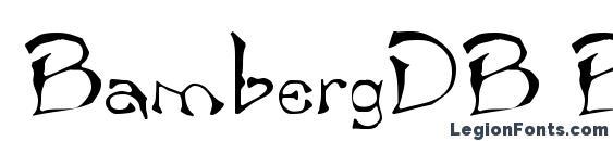BambergDB Bold Font, Halloween Fonts