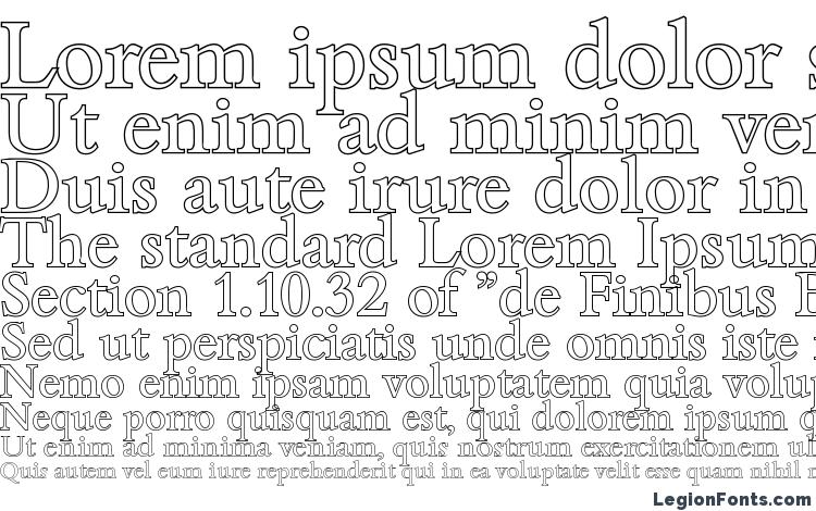 specimens BambergOutline Regular font, sample BambergOutline Regular font, an example of writing BambergOutline Regular font, review BambergOutline Regular font, preview BambergOutline Regular font, BambergOutline Regular font