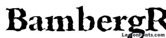 BambergRandom Bold Font