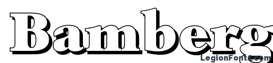 BambergShadow Heavy Regular Font
