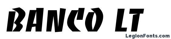Banco LT Font