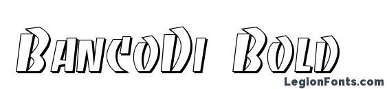 BancoDi Bold Font, Russian Fonts