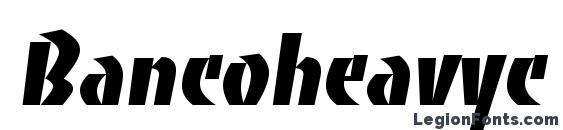 Шрифт Bancoheavyc