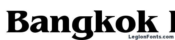 Шрифт Bangkok Bold