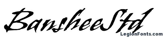BansheeStd Font, Halloween Fonts