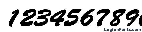 Banty Bold Font, Number Fonts