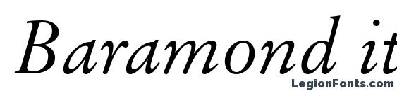 Baramond italic Font