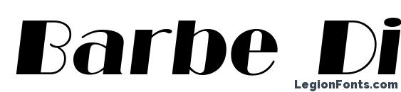 Barbe Display SSi Italic Font