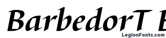 BarbedorT Bold Italic Font, Serif Fonts