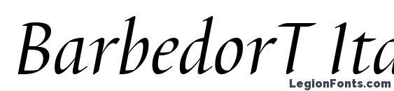 Шрифт BarbedorT Italic