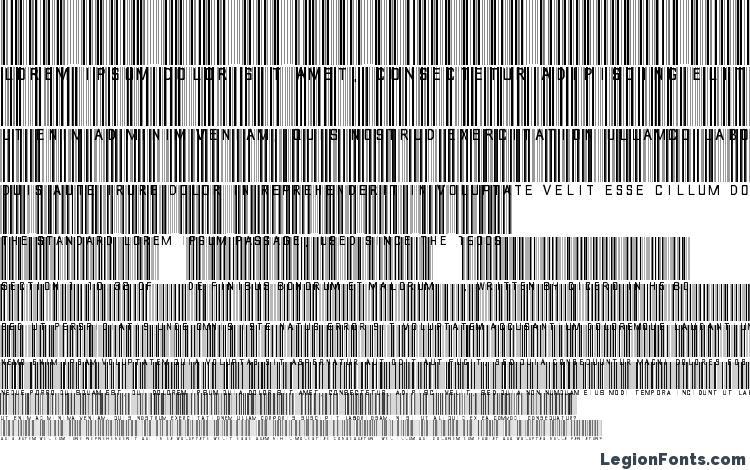 specimens barcode font font, sample barcode font font, an example of writing barcode font font, review barcode font font, preview barcode font font, barcode font font