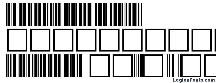glyphs Barcoder Normal font, сharacters Barcoder Normal font, symbols Barcoder Normal font, character map Barcoder Normal font, preview Barcoder Normal font, abc Barcoder Normal font, Barcoder Normal font
