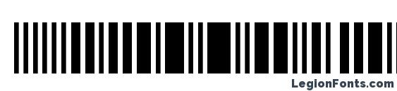 barkode Regular Font, Barcode Fonts