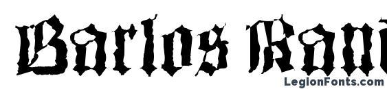 Barlos Random Font