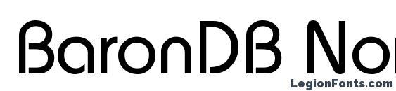BaronDB Normal Font