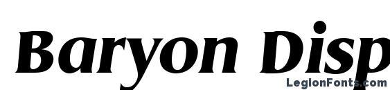 Шрифт Baryon Display SSi Italic