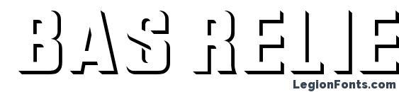 шрифт Bas Relief, бесплатный шрифт Bas Relief, предварительный просмотр шрифта Bas Relief