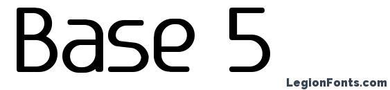 шрифт Base 5, бесплатный шрифт Base 5, предварительный просмотр шрифта Base 5