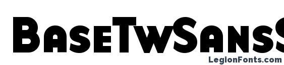 Шрифт BaseTwSansSmallCaps Bold