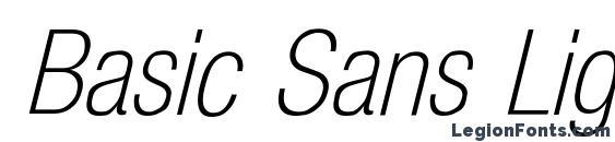Basic Sans Light SF Italic Font