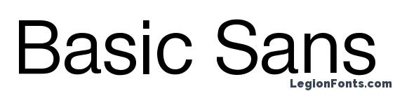 Шрифт Basic Sans SF