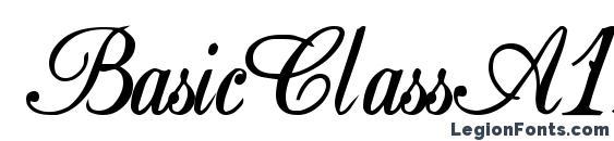 BasicClassA156a Bold Font