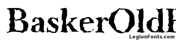 BaskerOldRandom Bold Font