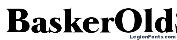BaskerOldSerial Heavy Regular Font