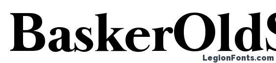 BaskerOldSerial Xbold Regular Font