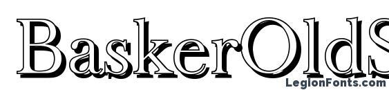 BaskerOldShadow Light Regular Font