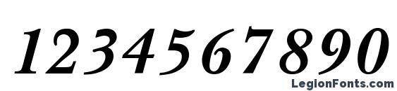 Baskerville Bold Italic Font, Number Fonts