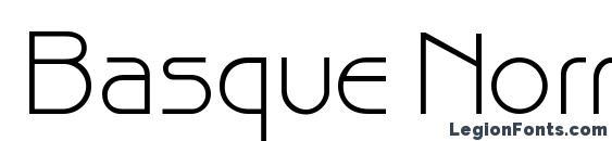 Basque Normal Font