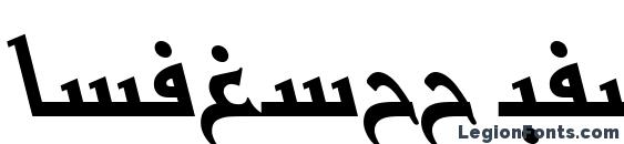 BasraTT Italic Font, Arabic Fonts